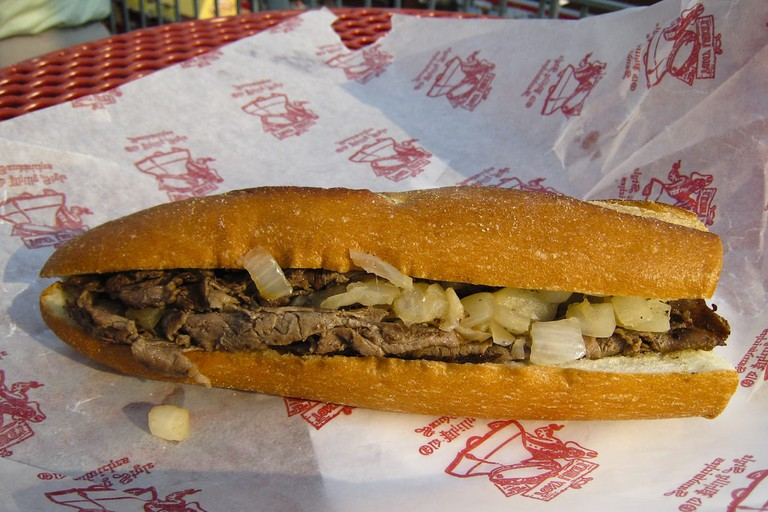 Tony Luke's Philadelphia cheesesteak