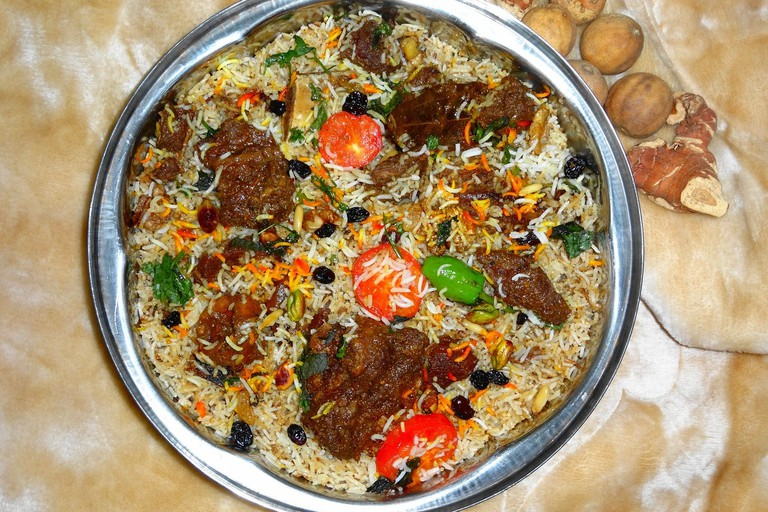 Bowl of biryani.