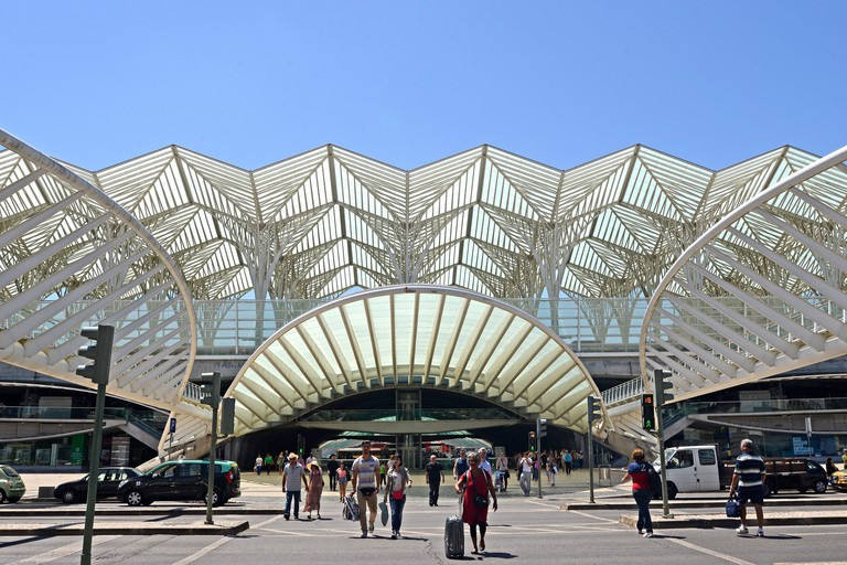 Oriente railway station Lisbon Portugal