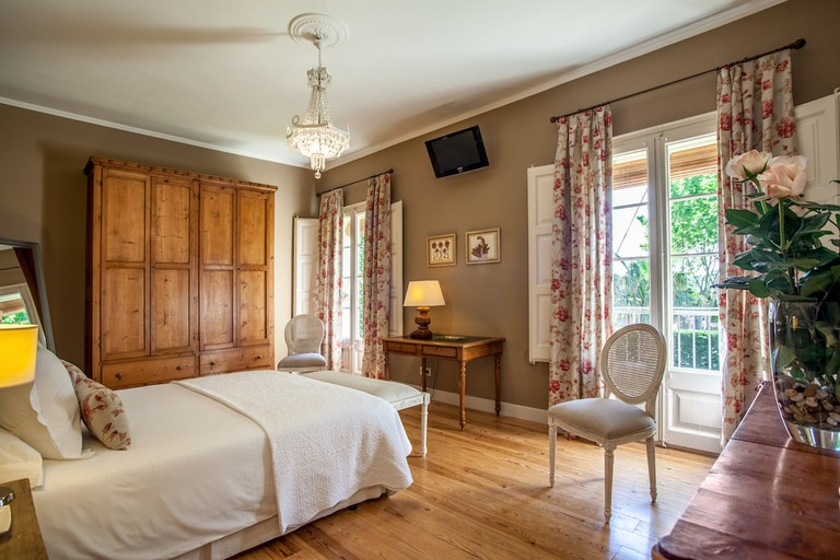 Bedroom one at L'Hort de Sant Cebrià Courtesy of the hotel
