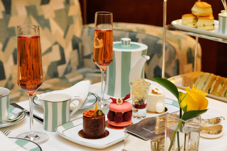 Afternoon Tea at Claridges, London.