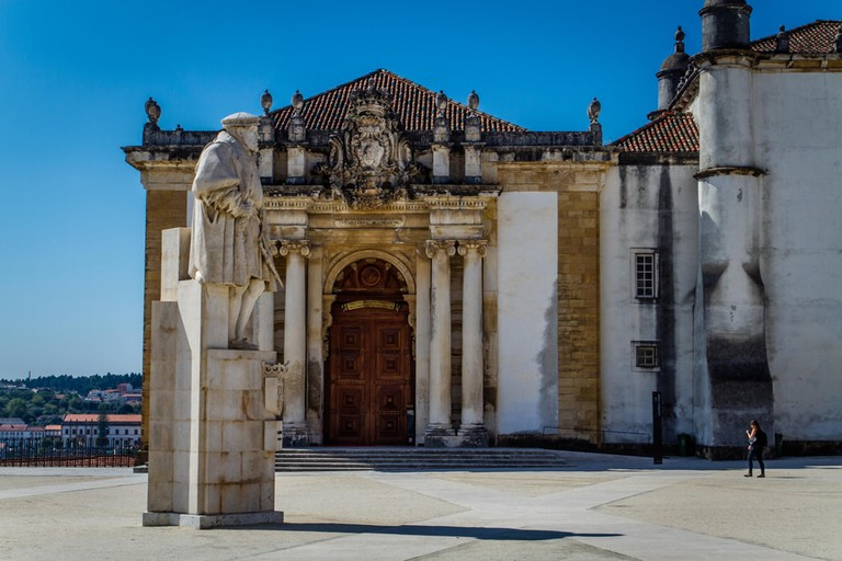 The Joanina library in the University town of Coimbra, Portugal