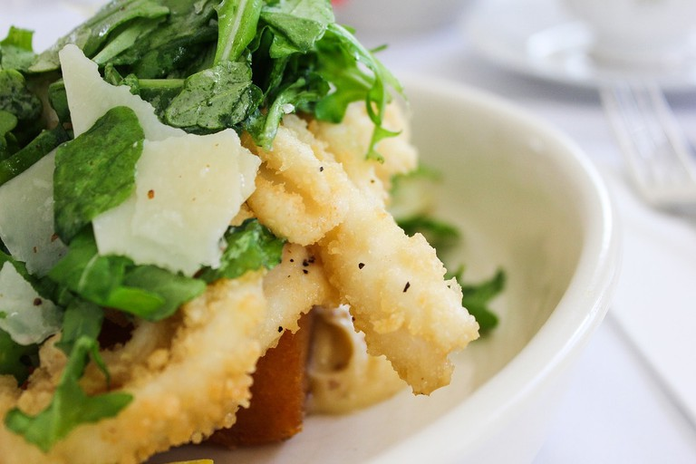 Salt and pepper squid is on the menu at R&R Restaurant