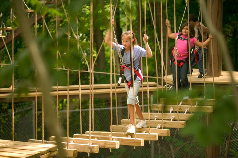 Sky Trail Ropes Adventure Course at John Ball Zoo