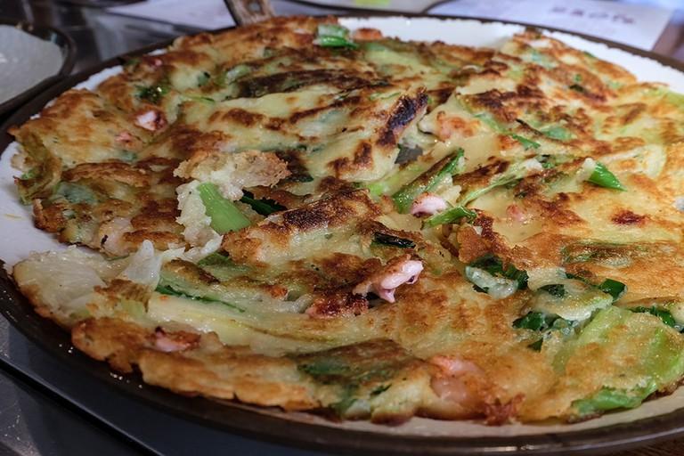 Seafood Scallion Pancake
