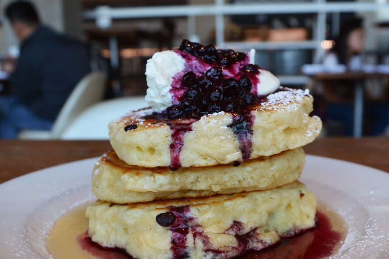 Head to Mildred's Temple Kitchen for blueberry buttermilk pancakes
