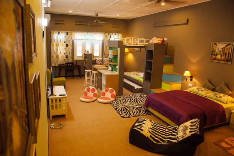 Interior of Modern Triple/ Quad Family Studio Room