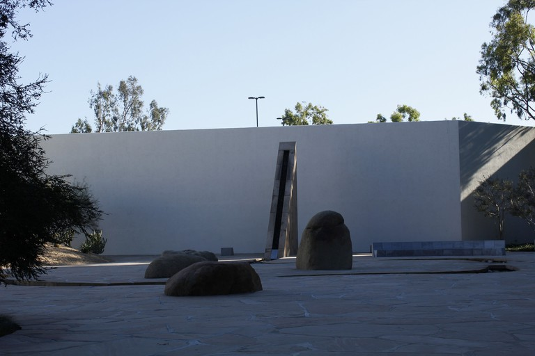 The Noguchi Garden is tucked away in an unassuming Costa Mesa plaza.