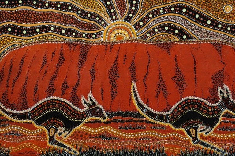 Painting of Uluru by Danny Eastwood © Karlangu Aboriginal Art Centre
