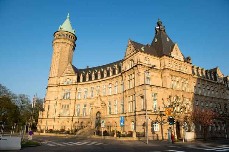 Tower of the state owned savings bank is the most famous bank building of Luxembourg