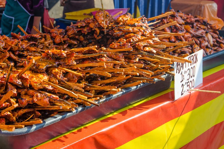 Tasty ayam percik selling in Ramadan Bazaar