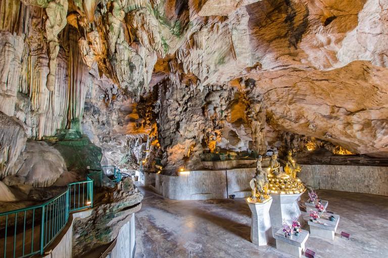 Interior of the Kek Lok Tong, Ipoh, Malaysia