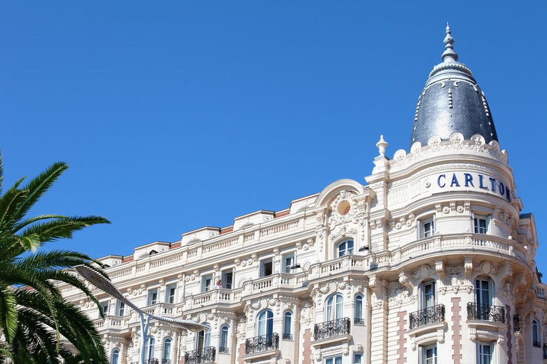 Carlton Intercontinental Hotel on the Croisette promenade in Cannes, France