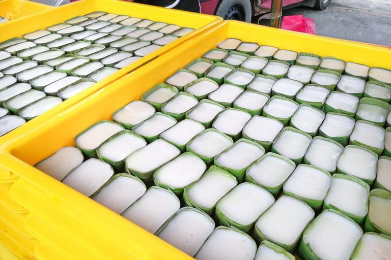 Tepung pelita at street bazaar