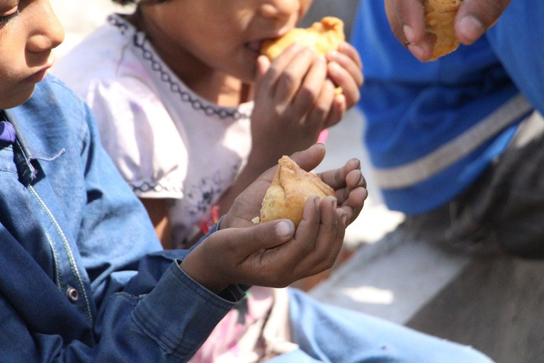 Feeding children