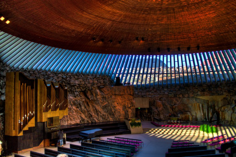 Temppeliaukio Church in Helsinki is a perfect Instagram spot.