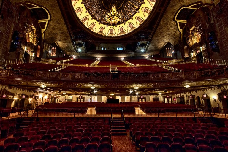 The interior of the St George Theatre is grand and opulent