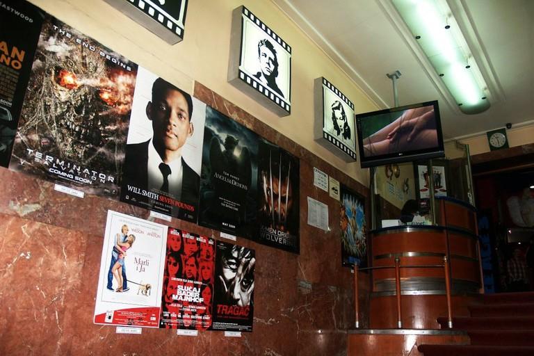 The charming interior of Tuckwood cinema