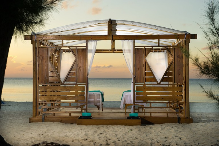 Indulge in a beach massage