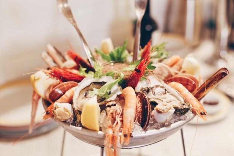 The epic shellfish plateaux at Zio Pesce restaurant, Milan   Courtesy Zio Pesce