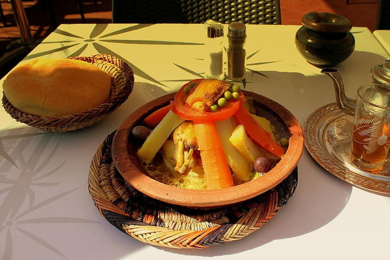 Moroccan tajine with mint tea