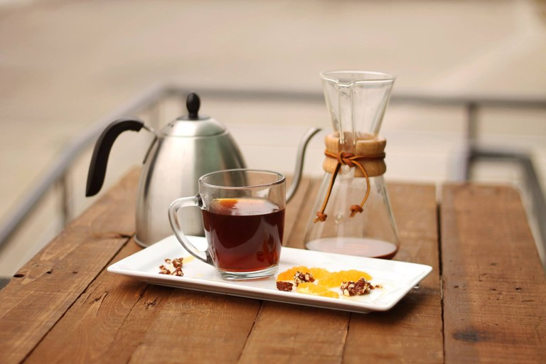Enjoy creative tea infusions as well as great coffee at Blue the Coffee Bar