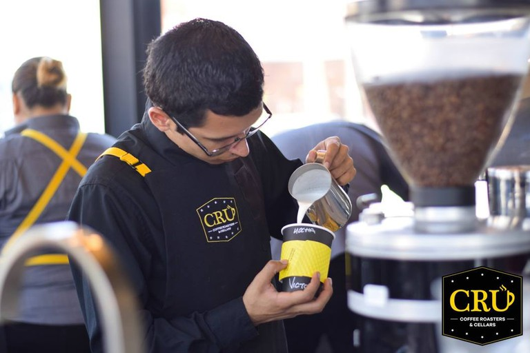 CRU toast and grind all their coffee beans in-house