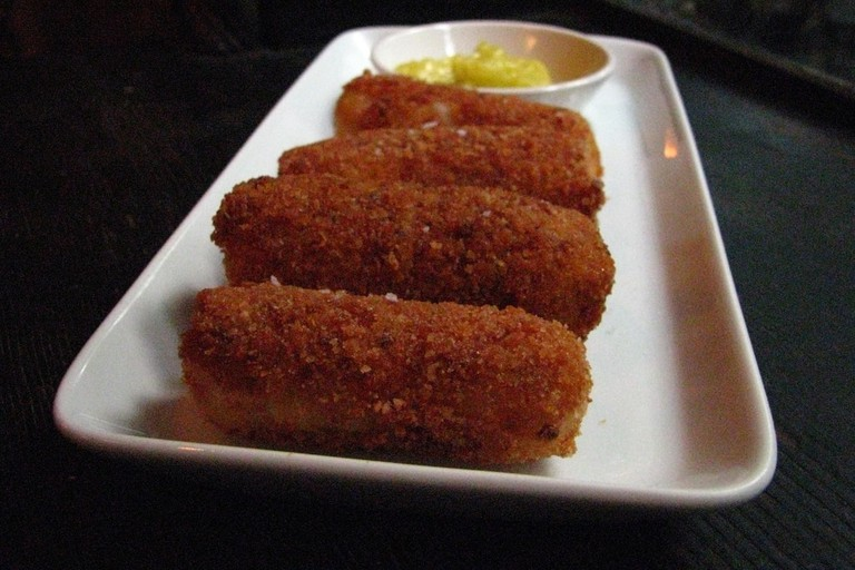 A plate of crispy croquetas © Sheri Wetherell