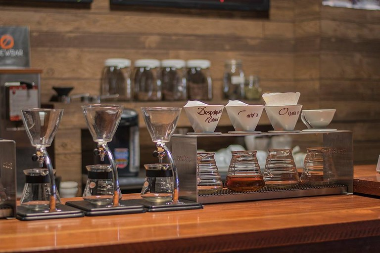 Coffee at Sospeso is filtered individually by order