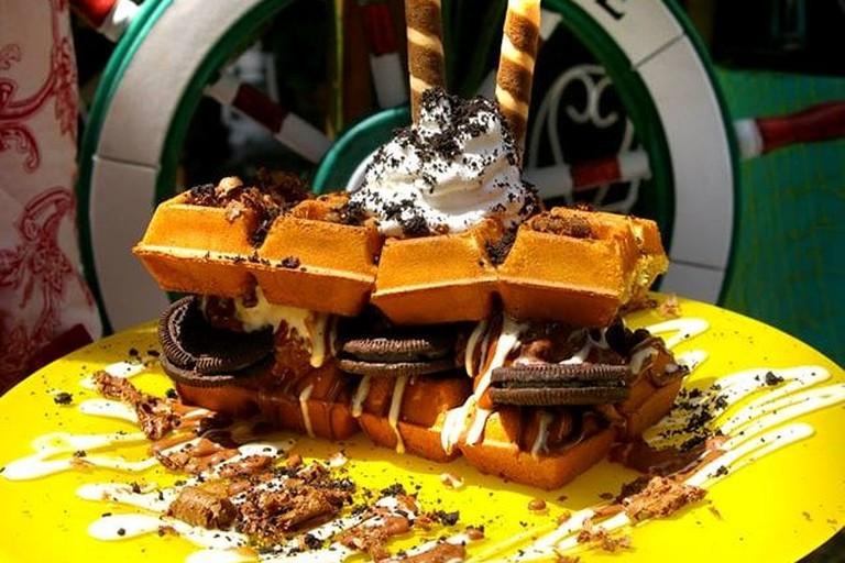 Waffle sandwich goodness at Little Kook