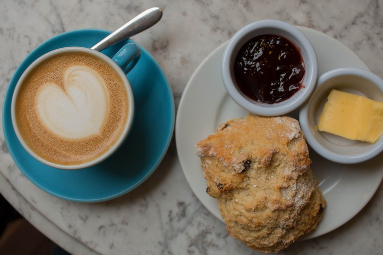 Scone and coffee