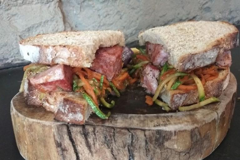 Tuna sandwich at Alma Pura