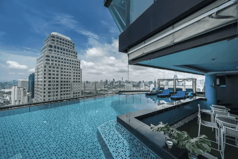 The infinity pool at the Continent Hotel Bangkok