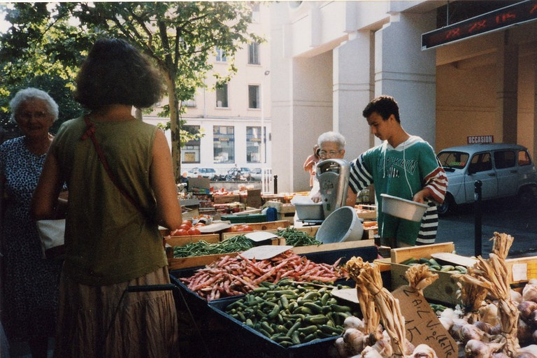 Marché de la Croix-Rousse, one of Lyon's largest outdoor markets and an amazing place to visit.