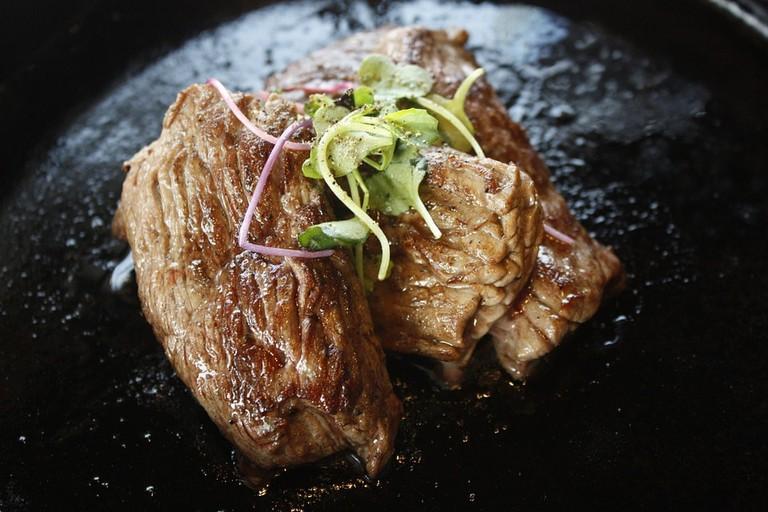 A succulent steak