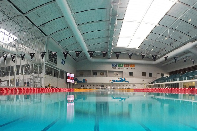 Inside the Melbourne Sports and Aquatics Centre