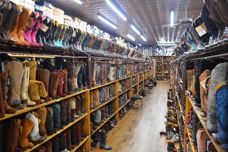 Cowboy boots at Allen's Boots, Austin