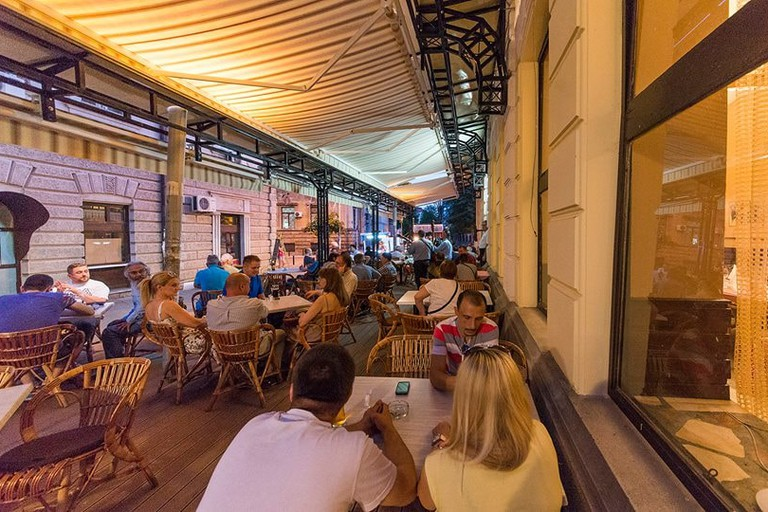 The outdoor area of Kragujevac's most famous restaurant