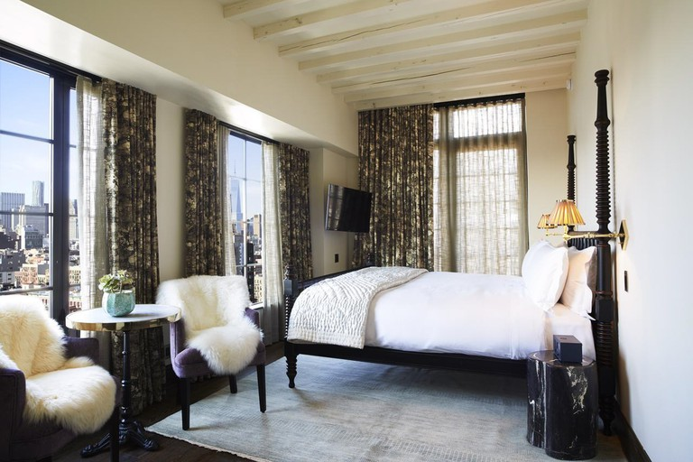 The Ludlow Hotel's rooms provide sweeping views of the city