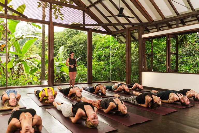 yoga class at Radiantly Alive, in Ubud, Bali.