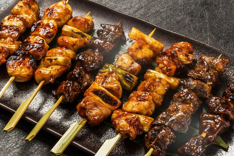 Yakitori Japanese chicken barbecue