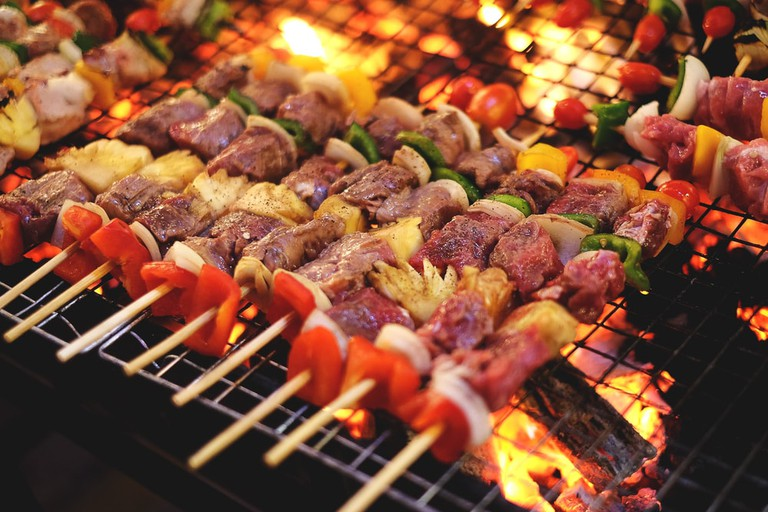 Barbecue grill street food in Thailand