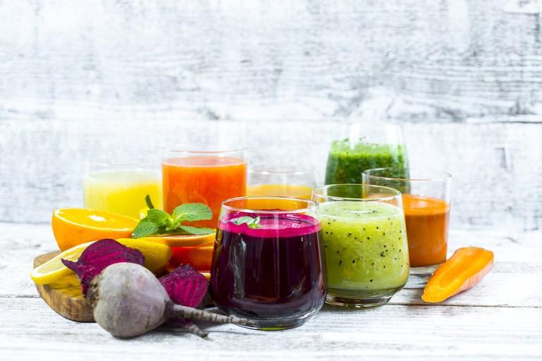 Fresh detox juices
