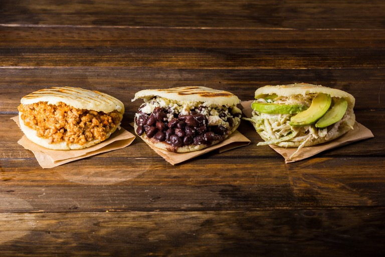 Different types of arepas