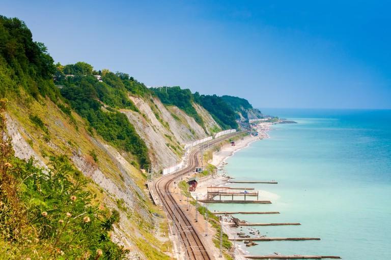 Railroad and the sea