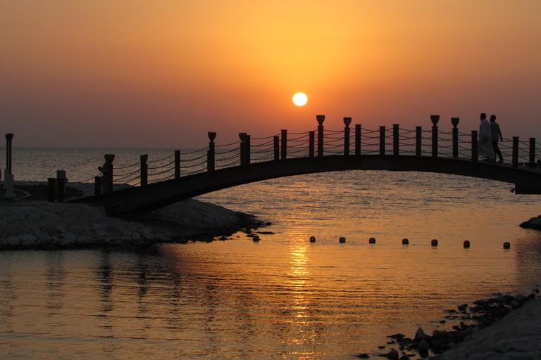 Sunset at the Sofitel Bahrain Zallaq Thalassa Sea & Spa