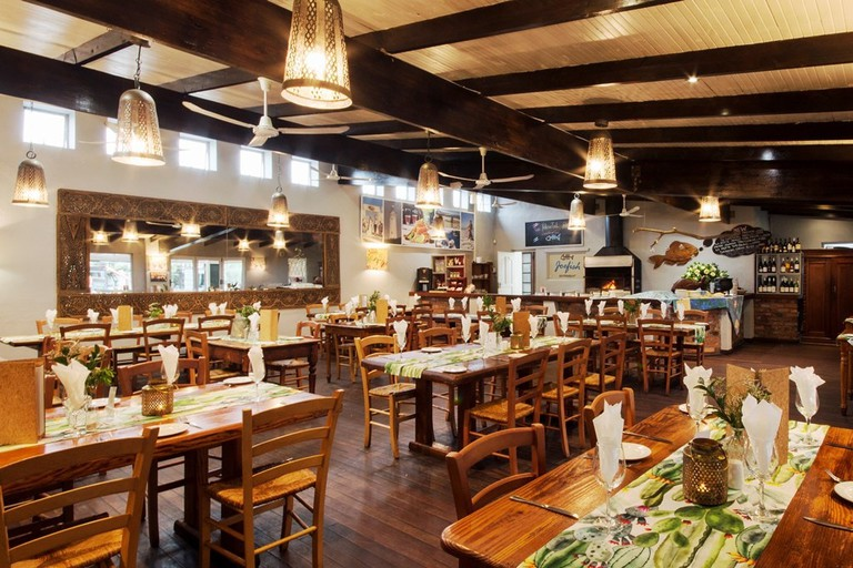 The interior of Joe Fish restaurant
