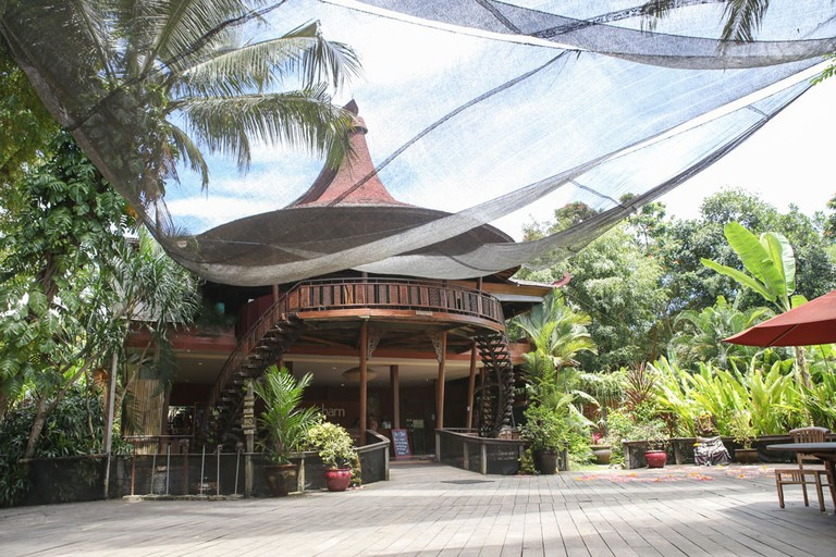 The main yoga studio at The Yoga Barn, in Ubud, Bali.