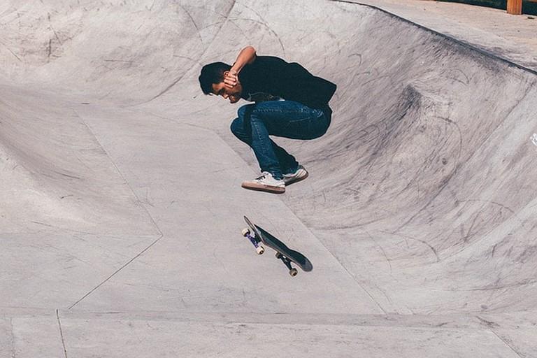 Skateboarder Skater Half-pipe Skateboard Sport