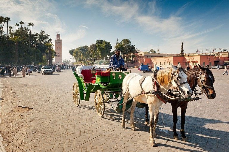 1024px-Cart_on_Marrakesh_Djemaa_el_Fna_square